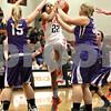 Monica Maschak - mmaschak@shawmedia.com<br /> DeKalb's Ashlei Lopez leaps to the hoop in the first quarter against Rochelle at DeKalb High School on Friday, December 20, 2013. The Barbs won, 70-39.