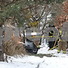 Rob Winner – rwinner@shawmedia.com<br /> <br /> Firefighters finish extinguishing a fire that destroyed a garage and camper at 31729 Hillcrest Road in Kingston, Ill., Tuesday, Dec. 17, 2013. Genoa-Kingston, Maple Park, Sycamore, DeKalb, Hampshire fire departments assisted on the scene. ***There may have been others, that's what I saw on the scene***
