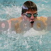 Rob Winner – rwinner@shawmedia.com<br /> <br /> Sophomore Tyler Schultz swims the butterfly during a DeKalb-Sycamore co-op swim team practice in DeKalb, Ill., Monday, Dec. 16, 2013.