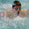 Rob Winner – rwinner@shawmedia.com<br /> <br /> Sophomore Tyler Schultz swims the butterfly during a DeKalb-Sycamore co-op swim team practice in DeKalb, Ill., Monday, Dec. 16, 2013.