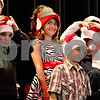 "Monica Maschak - mmaschak@shawmedia.com<br /> Mrs. Faivre's fourth grade class puts Santa hats on to perform ""We Are Santa's Elves"" during Waterman Elementary School's winter music program at Indian Creek High School on Tuesday, December 17, 2013."