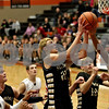Monica Maschak - mmaschak@shawmedia.com<br /> Brett Bemis launches for the hoop in the second quarter on Saturday, December 14, 2013. The Spartans beat the Barbs, 55-38.