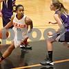 Monica Maschak - mmaschak@shawmedia.com<br /> DeKalb's Brittney Patrick surveys her options in the third quarter against Rochelle at DeKalb High School on Friday, December 20, 2013. The Barbs won, 70-39.