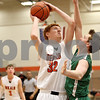 Monica Maschak - mmaschak@shawmedia.com<br /> DeKalb's Micah Fagerstrom attempts a shot in the first quarter of a Chuck Dayton tournament game against Geneseo on Friday, December 27, 2013. The Barbs won, 73-69.