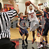 Monica Maschak - mmaschak@shawmedia.com<br /> DeKalb's Rudy Lopez leaps for two in the second quarter against Belvidere during the first day of the Chuck Dayton Tournament on Saturday, December 21, 2013. DeKalb won, 72-68.