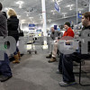 Monica Maschak - mmaschak@shawmedia.com<br /> A line of customers wait to have their items exchanged or returned at Best Buy in DeKalb on Thursday, December 26, 2013.