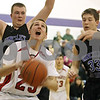 Rob Winner – rwinner@shawmedia.com<br /> <br /> Indian Creek's Noah Holm looks to the basket before putting up a shot good for two points during the third quarter of a tournament game against Hinckley-Big Rock at the Plano Christmas Classic on Monday, December 30, 2013. IC defeated H-BR, 61-37.