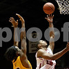 Monica Maschak - mmaschak@shawmedia.com<br /> Northern Illinois' Darrell Bowie attempts two points in the first half against Bethune-Cookman on Friday, January 3, 2014. The Huskies beat the Wildcats, 65-51.