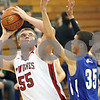 Rob Winner – rwinner@shawmedia.com<br /> <br /> Indian Creek's Garrison Govig puts up two points in the first quarter during a game against Rockford Christian at the Plano Christmas Classic on Monday, December 23, 2013. RC defeated IC, 36-35.