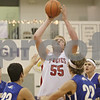 Rob Winner – rwinner@shawmedia.com<br /> <br /> Indian Creek's Garrison Govig (55) puts up a shot in the second quarter during a game against Rockford Christian at the Plano Christmas Classic on Monday, December 23, 2013. RC defeated IC, 36-35.