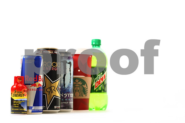 Photo Illustration by Kyle Bursaw – kbursaw@shawmedia.com<br /> <br /> Energy drinks, coffee and soda are just some of the caffeinated beverage options out there.<br /> <br /> Monday, Jan. 28, 2013