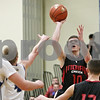Rob Winner – rwinner@shawmedia.com<br /> <br /> Indian Creek's Jaron Todd (10) takes a shot in the third quarter during the Little Ten Conference tournament against Newark in Somonauk, Ill., Thursday, Jan. 31, 2013. Indian Creek defeated Newark, 58-57, in overtime.