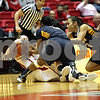 Rob Winner – rwinner@shawmedia.com<br /> <br /> Northern Illinois' Jenna Thorp (left) tries to maintain possession of a ball while Toledo's Lecretia Smith (center) and Inma Zanoguera (right) look to take it away during the second half in DeKalb, Ill., Saturday, Jan. 26, 2013. Toledo defeated NIU, 44-42.