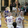 Rob Winner – rwinner@shawmedia.com<br /> <br /> Hinckley-Big Rock's Bernie Conley puts up two points with a shot in the third quarter during the Little Ten Conference tournament against Paw Paw in Somonauk, Ill., Thursday, Jan. 31, 2013. H-BR defeated Paw Paw, 58-47.
