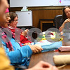 Kyle Bursaw – kbursaw@shawmedia.com<br /> <br /> DeKalb Public Library employee Emily Gron (right) chats with members of stich niche, a crochet club that meets twice a month in the conference room at the library, on Thursday, Jan. 24, 2013.