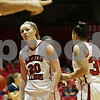 Rob Winner – rwinner@shawmedia.com<br /> <br /> Northern Illinois' Jenna Thorp (20) reacts after being called for a foul during the first half in DeKalb, Ill., Saturday, Jan. 26, 2013. Toledo defeated NIU, 44-42.