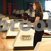 Kyle Bursaw – kbursaw@shawmedia.com<br /> <br /> Sycamore's Dani Pivonka gets ready to roll during practice at Mardi Gras Lanes on Friday, Feb. 1, 2013.