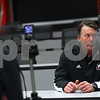 Kyle Bursaw – kbursaw@shawmedia.com<br /> <br /> Northern Illinois offensive coordinator Bob Cole interviews with the Daily Chronicle following the press conference introducing the 2013 recruiting class in the Yordon Center on Wednesday, Feb. 6, 2013.