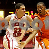Rob Winner – rwinner@shawmedia.com<br /> <br /> Northern Illinois' Abdel Nader (23) drives to the basket as Bowling Green's Anthony Henderson (2) defends during the first half in DeKalb, Ill., Wednesday, Feb. 6, 2013.
