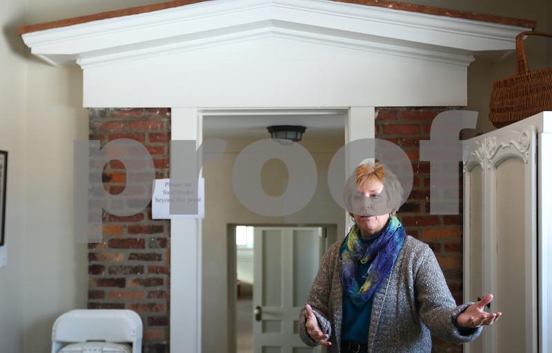 Kyle Bursaw – kbursaw@shawmedia.com<br /> <br /> Marcia Wilson, executive director at the Joesph F. Glidden Homestead and Historical Center, gives a media tour of the homestead and welcome center on Wednesday, Feb. 6, 2013.