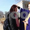 Kyle Bursaw – kbursaw@shawmedia.com<br /> <br /> Grace Place Campus Ministry Pastor Amy Fallon places her hand on the head of NIU senior Jeanette Fernandez after spreading ash on her forehead at the corner of Normal Road and Lucinda Avenue for Ash Wednesday in DeKalb, Ill. on Feb. 13, 2013.