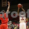 Rob Winner – rwinner@shawmedia.com<br /> <br /> Northern Illinois' Antone Christian (3) puts up three points with a field goal in the first half in DeKalb, Ill., Wednesday, Feb. 13, 2013. Ball State defeated NIU, 56-52.