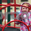 Kyle Bursaw – kbursaw@shawmedia.com<br /> <br /> Founders Elementary kindergartner Delilah Franklin climbs an obstacle at recess on Thursday, Feb. 14, 2013.