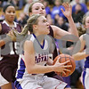 Rob Winner – rwinner@shawmedia.com<br /> <br /> Hinckley-Big Rock's Jacqueline Madden drives to the basket in the third quarter during the Class 1A Oglesby Sectional final in Oglesby, Ill., Thursday, Feb. 14, 2013. Annawan defeated H-BR, 64-44.