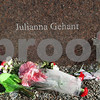 Kyle Bursaw – kbursaw@shawmedia.com<br /> <br /> Before the beginning of the ceremony, several flowers already lay against the memorials of the five students kill in 2008, including Julianna Gehant's pictured here in DeKalb, Ill. on Thursday, Feb. 14, 2013