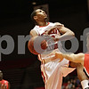 Rob Winner – rwinner@shawmedia.com<br /> <br /> Northern Illinois' Darrell Bowie (10) is fouled by Ball State's Chase Brogna (14) in the first half of their game in DeKalb, Ill., Wednesday, Feb. 13, 2013. Ball State defeated NIU, 56-52.