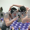 Rob Winner – rwinner@shawmedia.com<br /> <br /> Sycamore's Jake Davis (left) competes against Illinois Valley Central's Jordan Ladd during their 195-pound finals match at the Class 2A Rochelle Sectional on Saturday, Feb. 9, 2013. Davis won by pin.