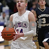 Rob Winner – rwinner@shawmedia.com<br /> <br /> Hinckley-Big Rock's Michael Bayler puts up two points with a layup in the first quarter during the Class 1A Westminster Christian Regional semifinals in Elgin, Ill., Tuesday, Feb. 20, 2013. H-BR defeated Harvest Christian, 44-33.