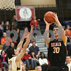 Kyle Bursaw – kbursaw@shawmedia.com<br /> <br /> DeKalb's Jake Carpenter shoots in the third quarter of the game against Sycamore on Friday, Feb. 22, 2013.