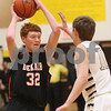 Kyle Bursaw – kbursaw@shawmedia.com<br /> <br /> DeKalb's Micah Fagerstrom looks to pass while being defended by Sycamore's Nicholas Feuerbach during their game at Sycamore High School on Friday, Feb. 22, 2013.
