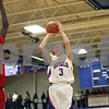 Rob Winner – rwinner@shawmedia.com<br /> <br /> Hinckley-Big Rock's Jared Madden (3) puts up a shot good for two points in the second quarter during the Class 1A Westminster Christian Regional final at Judson University in Elgin, Ill., Friday, Feb. 22, 2013. Mooseheart defeated Hinckley-Big Rock, 55-38.