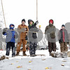 Rob Winner – rwinner@shawmedia.com<br /> <br /> Members of Sycamore Webelos Pack 490 use bamboo poles and string to catch mouse traps during a fishing activity during the annual Klondike Derby held at Sycamore's Sportsman's Club in Sycamore, Ill., Saturday, Feb. 2, 2013.