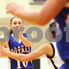 Kyle Bursaw – kbursaw@shawmedia.com<br /> <br /> Hinckley-Big Rock's Jacqueline Madden passes around a Putnam County defender in the third quarter of Hinckley-Big Rock's 40-32 victory over Putnam County in the Class 1A Oglesby Sectional at Illinois Valley Community College in Oglesby, Ill. on Monday, Feb. 11, 2013.