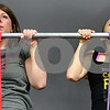Kyle Bursaw – kbursaw@shawmedia.com<br /> <br /> Julie French (left) and Phoebe Balentyne, both of Sycamore, do their first set of eight pull-ups as part of a workout on Monday, Feb. 18, 2013 at Sycamore CrossFit.