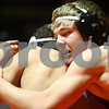 Kyle Bursaw – kbursaw@shawmedia.com<br /> <br /> DeKalb's Dylan Farrell controls Yorkville's Bryce Shewan in their 145-pound match at DeKalb High School on Thursday, Jan. 3, 2013. Shewan defeated Farrell 2-1.