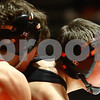 Kyle Bursaw – kbursaw@shawmedia.com<br /> <br /> DeKalb's Parker Stratton (right) wrestles against Yorkville's Tyler Burlington in the 106-pound match at DeKalb High School on Thursday, Jan. 3, 2013. Stratton defeated Burlington 6-2.