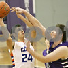 Rob Winner – rwinner@shawmedia.com<br /> <br /> Genoa-Kingston's Eli Thurlby (24) puts up a shot in the first quarter at the Plano Christmas Classic on Saturday, Dec. 29, 2012. G-K defeated Wilmington, 63-58.
