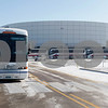Erik Anderson - For the Daily Chronicle<br /> <br /> Seven of 26 buses line the perimeter of the Convocation Center Sunday, December 30, 2012 while students load on to their assigned bus.