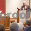 Erik Anderson - For the Daily Chronicle<br /> <br /> Mayfield Congregational Church Pastor Bill Nagy speaks about the newly renovated church to members during service Sunday, January 6, 2013 in Mayfield.
