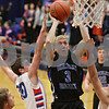 Rob Winner – rwinner@shawmedia.com<br /> <br /> Hinckley-Big Rock's Jared Madden (3) puts up a shot during the first quarter in Genoa, Ill., Tuesday, Jan. 8, 2013. H-BR defeated G-K, 51-40.