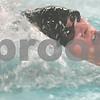 Kyle Bursaw – kbursaw@shawmedia.com<br /> <br /> DeKalb/Sycamore coop's Marc Dubrick swims the 100-yard backstroke in the team's meet against Ottawa at Huntley Middle School on Monday, Jan. 7, 2013.