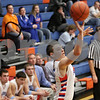 Rob Winner – rwinner@shawmedia.com<br /> <br /> Genoa-Kingston's Tommy Lucca puts three points up with a field goal in the fourth quarter in Genoa, Ill., Friday, Jan. 11, 2013. Genoa-Kingston defeated Richmond-Burton, 63-50.
