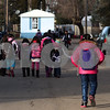 Kyle Bursaw – kbursaw@shawmedia.com<br /> <br /> Children walk to their homes in Evergreen Village after getting dropped off by the bus on Wednesday, Jan. 9, 2013. More than 50 kids living in Evergreen Village attend the Sycamore school district.
