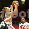 Rob Winner – rwinner@shawmedia.com<br /> <br /> Northern Illinois' Jenna Thorp puts up a shot during the first half in DeKalb, Ill., Wednesday, Jan. 16, 2013.