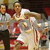 Rob Winner – rwinner@shawmedia.com<br /> <br /> Northern Illinois point guard Daveon Balls (left) moves the ball while being pressured by Akron's Alex Abreu in the first half in DeKalb, Ill., Saturday, Jan. 12, 2013.