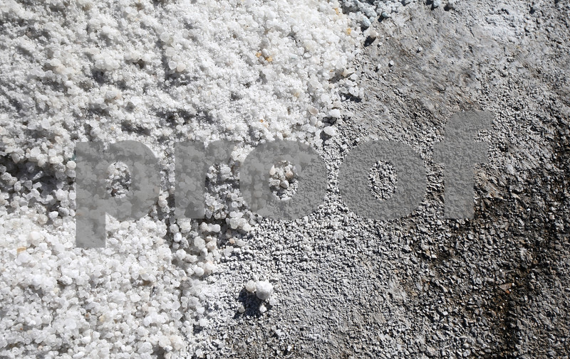 Kyle Bursaw – kbursaw@shawmedia.com<br /> <br /> The edge of a pile of salt at DeKalb's streets department on Friday, Jan. 18, 2013<br /> <br /> ***maybe could be used as a graphical element instead of just a regular photo box?***